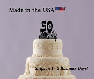 50th Anniversary, Personalized Cake Topper, Golden Anniversary Keepsake, LT1372