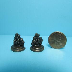 Dollhouse Miniature Bronze Tone Bookend Set of 2 B0366