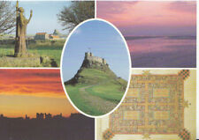 Northumberland Postcard - Views of Holy Island - Ref 2180A