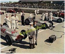 Farbfoto Startaufstellung GP Tripolis Mercedes Silberpfeile Mechaniker Auto 1938