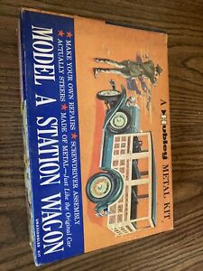 Rare 1930 Model A Station Wagon Hubley Metal Toy Kit(Untouched in Original Box)
