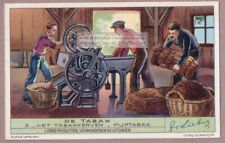 Vintage Machine Hand Grinding Pipe Tobacco 1930s Trade Ad  Card