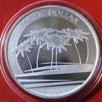 "Fiji Inseln 1 Dollar Silber 2018 "" Pacific Dollar"" 1 Unze #F3768 ST-BU"