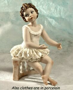 Statua in porcellana donna ballerina in tutù figurina Danzatrice fatta in Italia