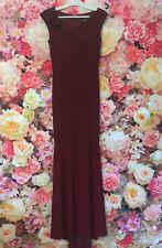 Gino Cerruti Long Burgundy Flower Detail Prom Evening Gown Dress Size 8