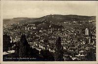 STUTTGART AK um 1930/35 Totalansicht Panorama Blick alte Echtfoto-Postkarte