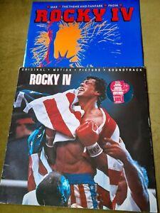 """ROCKY IV-SOUNDTRACK LP(SCOTTI BROTHERS)+ WAR THEME 12""""(CERTAIN)"""
