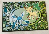 Eevee Pokemon Card Postcard Stained glass Promo Rare Japanese Nintendo F/S