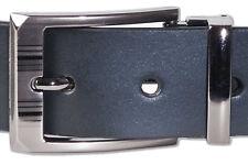 Rimbaldi Cintura pelle con Fibbia in Metallo da Liscio di Bufalo Nero OPACO
