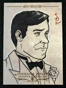 2008 TOPPS MASTERPIECES INDIANA JONES SKETCH CARD JASON SOBOL HARRISON FORD INDY