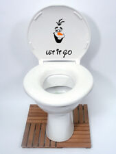 OLAF FROZEN DISNEY STICKER , FUNNY TOILET, FRIDGE, DOOR, WALL sticker uk seller