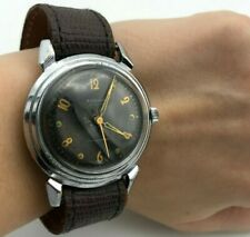 Men Military WW2 Style RODINA Crab Black Vintage First Automatic USSR Watch RARE