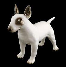 Cani in ceramica personaggio DOG BULL TERRIER SWAROVSKI CRISTALLI PLATINO spato ITALY