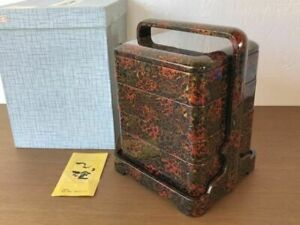 Japanese Tsugaru lacquer ware high-class wooden Lunch box 4 tiers From Japan