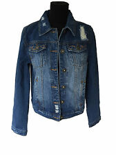 Firetrap Vintage Sophia Denim Jacket Ladies Size 10 Distressed Brand New