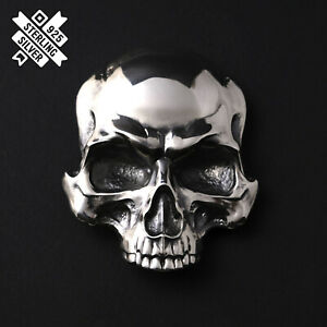 Skull belt buckle, Human skull solid 925 Sterling Silver belt buckle