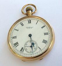 Lovely Gents dimensioni Antico solido 9ct oro Waltham Orologio da taschino 83.6 GRAMMI
