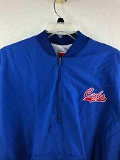 Swingster Iowa Cubs Vintage Blue 1/4 Zip Pullover Windbreaker Mens Size L
