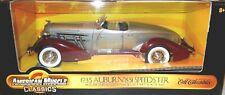 1935 Auburn 851 BoatTail Speedster 1:18 scale Ertl Model tu-tone Maroon & Silver
