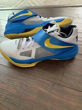 new arrivals e76e3 7f13b Nike KD IV 4 Entourage White Tour Yellow Blue Size 9.5 473679-102 FREE  SHIPPING