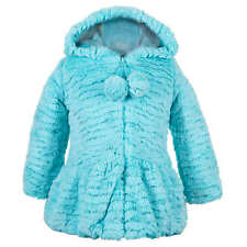 229207f21 Faux Fur Spring Breathable Coats (Newborn - 5T) for Girls