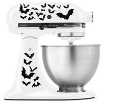 Halloween Spooky Bats Swarm - Vinyl Decal Set for Kitchen Mixers - Black
