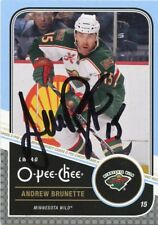 ANDREW BRUNETTE WILD AUTOGRAPH AUTO 11/12 O-PEE-CHEE OPC #184 *44012