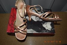 Tan/camel Capezio Crisstina ballroom latin dance shoes - size UK 3.5