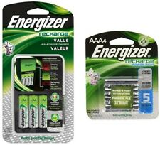 Energizer Recharge Value Charger with 4 AA and 4 AAA rechargeable batteries