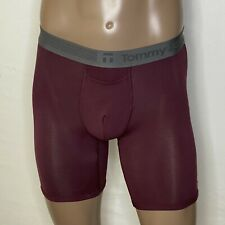 """Tommy John Cool Cotton Boxer Brief S Small 28""""-32"""" Maroon/Gray NWOT"""