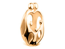 Loving Family 9ct Yellow GOLD Pendant - Parents and three Children