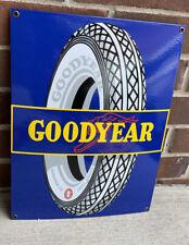 Good Year Tires Gas Oil Convex Large 16� Enamel porcelain Sign