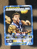 AFL TRADE CARD HANDSIGNED BY NTH MELBOURNE KANGAROOS CHAMPION SHANNON GRANT