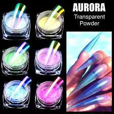 AURORA Transparent Magic Nail Powder Candy Colours Neon CHROME Mirror Mermaid UK
