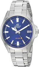 CASIO EFV100D -2 Edifice 3H Sport Stainless Steel Silver Blue Men's Watch