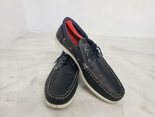AKADEMIKS Men's  Shoes Real Comfort causal Lace Up Topsider  Boat Navy Size 13