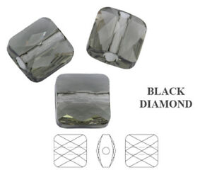 Genuine SWAROVSKI 5053 Mini Square Crystal Beads * Many Sizes & Colors