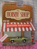 The Hobby Shop 1969 CHEVROLET CAMARO CONV'T w/ Shell GAS PUMP∞green∞Greenlight