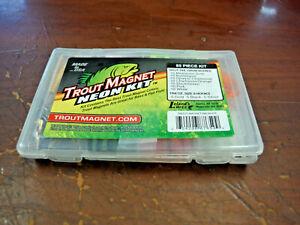 New Leland's Lures TROUT Magnet NEON 85 Piece Kit ** BROKEN CASE **