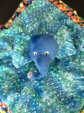 Eric Carle Comforter elephant blanket blankie soft toy soother doudou lovey blue