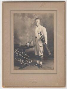1930 GOLF Championship Antique Cabinet Photograph LANCASTER OHIO Golfer