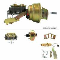 "1958-64 Chevy Bel Air FW Mount Pwr 8"" Single Brake Booster Kit LS Swap Disc/Drum"