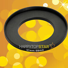 37-58mm Step-Up Filter Metal Adapter Ring / 37mm Lens to 58 mm For Filter UV CPL