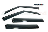 Terrafirma TF665 Self-Adhesive Black Wind Deflectors Fits Range Rover L322