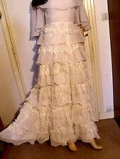 SUPERBE ROBE DE MARIEE VINTAGE 60 DENTELLES TERGAL/NYLON T 36/38 /WEEDING DRESS