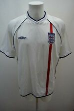UMBRO ANGLETERRE MAILLOT T SHIRT FOOT FOOTBALL JERSEY   XL BLANC