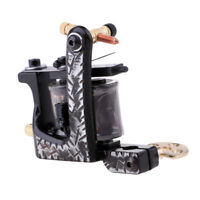Tattoo Machine Gun for Shader Liner 10 Wraps Coils Professional High Quality