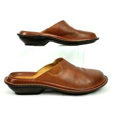 Clarks Womens 10M Slip On Shoes Mules Clogs Comfort  Brown Tan EU 41 Work Nurse