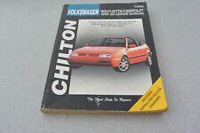 Chilton Volkswagen Owners Golf/Jetta/Cabriolet 1990-99 SHOP Repair Manual #70402