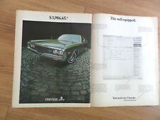 1970 Chrysler Newport Sedan Ad   $3.986.65  This Well Equipped
